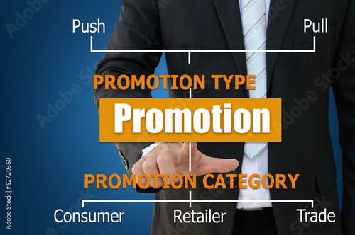 Business Chart of promotion type and cateory