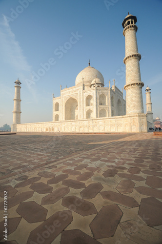 Taj Mahal view in early morning