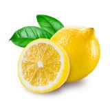 Fototapety Fresh lemon with a half isolated on white background