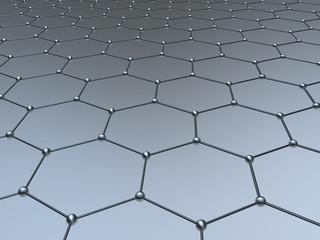 Graphene molecule structure fragmen