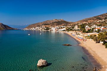 Tolo resort, sandy beach, Greece