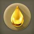 Oil drop, long shadow vector icon