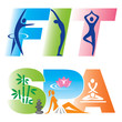 Fitness Spa Sign Icons