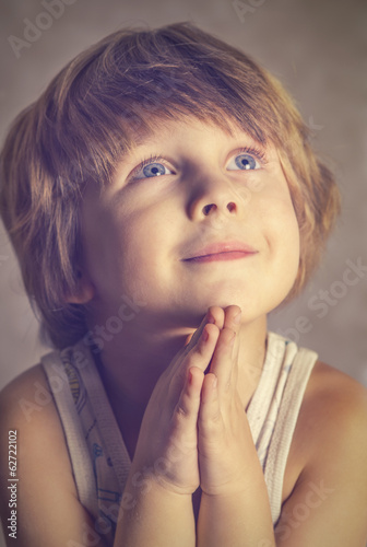 boy at prayer