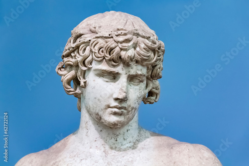 Ancient greek statue portrait