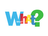 """WHAT?"" Letter Collage (questions explanations help support how)"