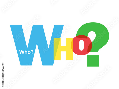 """""""WHO?"""" Letter Collage (questions help support contact us)"""