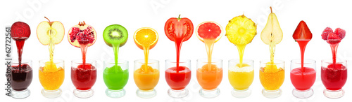 Panel Szklany fruit juices