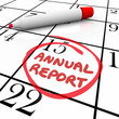 Annual Report Due Date Circled Calendar Report Filing Day