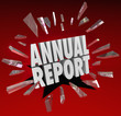 Annual Report Words Break Through Glass Surprise Shocking Financ