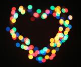 Bright heart bokeh background