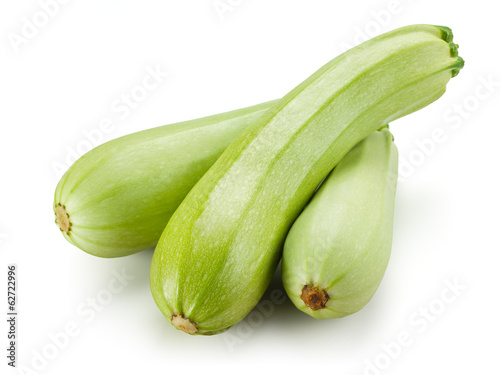 Fresh zucchini. Squash isolated on white background