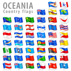 Vector Oceanic National Flag Set