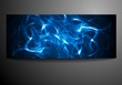 Neon waves vector background