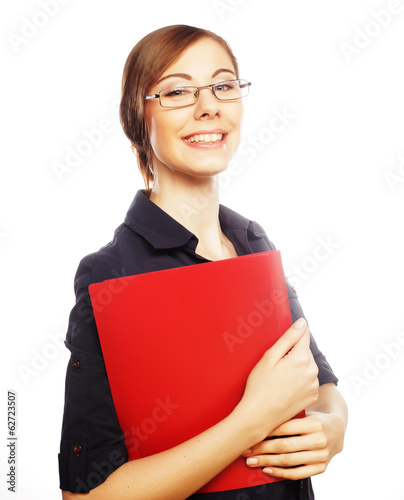student woman wearing glasses