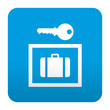 Etiqueta tipo app azul simbolo consigna de equipaje