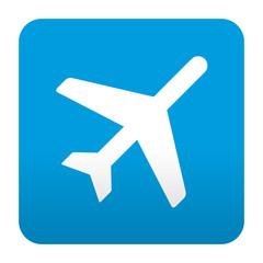 Etiqueta tipo app azul simbolo aeropuerto