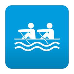 Etiqueta tipo app azul simbolo remeros