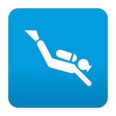Etiqueta tipo app azul simbolo submarinista