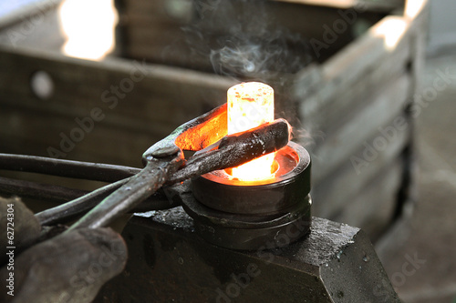 The item is manufactured in the forge.