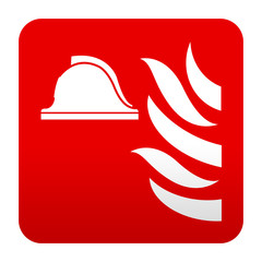 Etiqueta tipo app roja simbolo punto de encuentro
