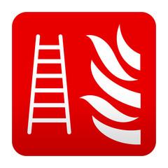 Etiqueta tipo app roja simbolo escala de incendios