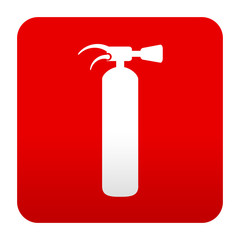 Etiqueta tipo app roja simbolo extintor