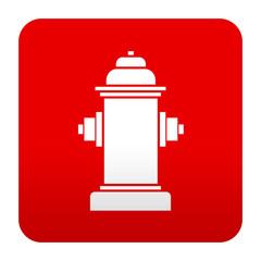 Etiqueta tipo app roja simbolo hidrante