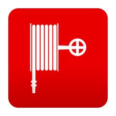Etiqueta tipo app roja simbolo manguera