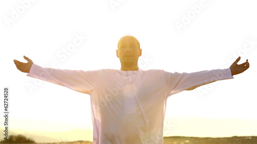 Arabic man at sunset