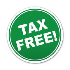 Etiqueta redonda texto TAX FREE!