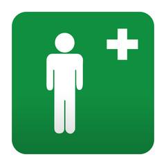 Etiqueta tipo app verde simbolo sanitario sanidad masculina