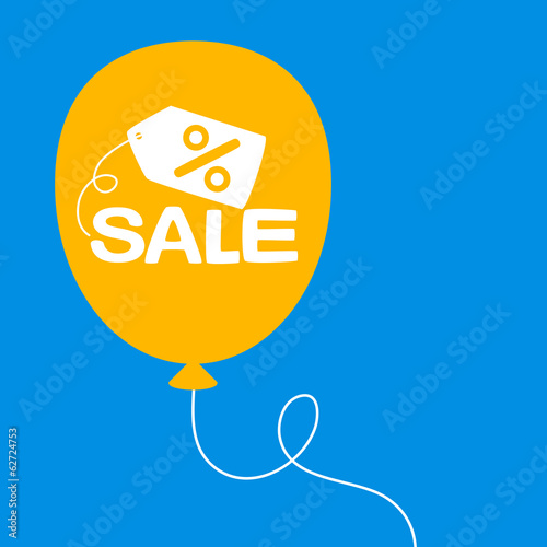 balloon with a sale