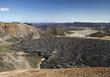 Island, Blick auf Vulkanlandschaft