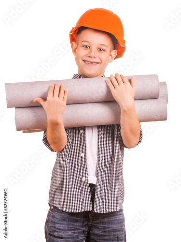 little boy with wallpaper