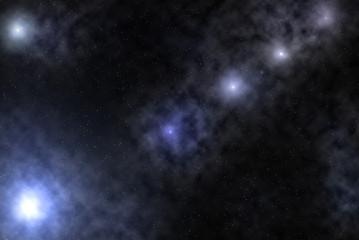 Sternenklarer Himmel, Galaxie, Composing