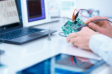 repair and adjustment of the electronic device