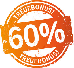 Treuebonus Button 60%