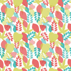 Seamless bright leaves pattern.