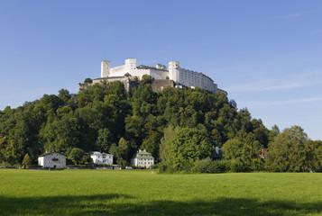 Österreich, Salzburg, Blick auf die Festung Hohensalzburg