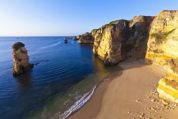 Portugal, Lagos, Blick auf Strand Dona Ana