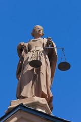 Deutschland, Saarland, Statue der Gerechtigkeit