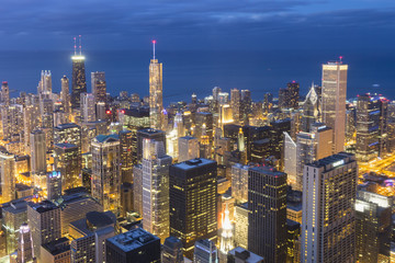 USA, Illinois, Chicago, Blick vom Willis Tower in Richtung Lake Michigan