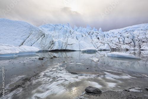 USA, Alaska, Blick auf Matanuska Gletscher Mund