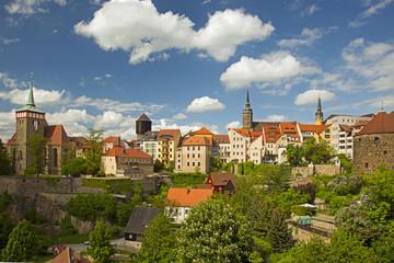 Deutschland, Sachsen, Lausitz, St. -Michael-Kirche, Wasserturm und St. -Petri-Dom
