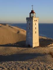 Dänemark, Blick auf Rubjerg Knude Leuchtturm an der Nordsee