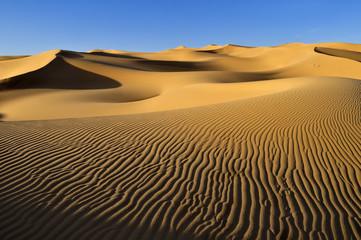 Algerien, Blick von Sanddünen bei Immidir