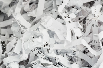 Papierschnitzel Nahaufnahme