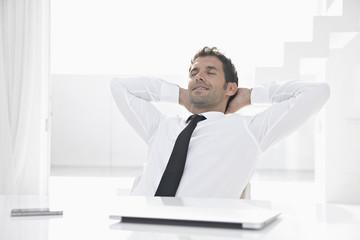 Spanien, Geschäftsmann Entspannung