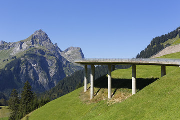 Österreich, Vorarlberg, Blick auf Hochkunzelspitze Berg am Bregenzer Wald